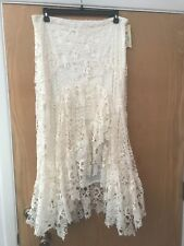 REBA LACE IVORY SKIRT SIZE 14 RETAIL $118 PAINTED DESERT HIGH LOW