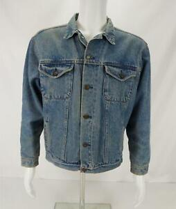 VTG Brooks Brothers Denim Jean Button Up Trucker Jacket Blue Men's XL