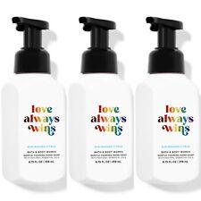 3 Bath & Body Works Love Always Wins Gentle Foaming Hand Soaps w/Essential Oils