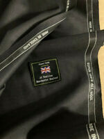 3.5 Metres Dark Grey Super 150s Wool Suit Fabric. Made In England By JJ TEX