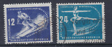 1950 Wintersportmeisterschaften in Schierke sauber Gestempelt ANK 246 + 47