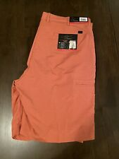 NWT Mens Greg Norman Golf Shorts Sz 40 Coral Pink Performance Fabric