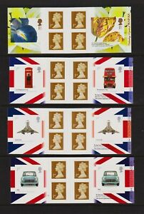 Great Britain - Four 1st. class booklets - FACE 20.40 pounds