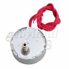 Metal Synchronous Motor AC24V Turntable Reduction Geared Motor 5-6RPM DIY Silver