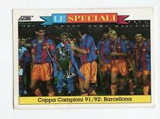 figurina card - CALCIATORI CARD SCORE 1993  - n. 10 COPPA CAMPIONI BARCELLONA