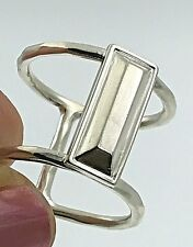 """Silpada .925 Sterling Silver Double Band """"In Vogue"""" Column Ring, Size 5"""