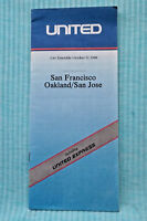United Time Table - San Francisco, Oakland/San Jose - Oct. 31, 1988