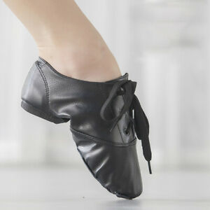 Ballroom Jazz Modern Latin Practice Dance Shoes Black Women Men Kids Children PU