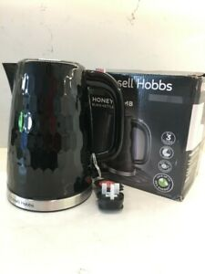 Russell Hobbs 26051 1.7L 3000W Honeycomb Textured Rapid Boil Kettle - Black