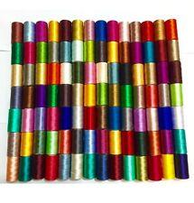 75 Grandes Seda / rayón 100% de máquina De Bordar Hilos Fuerte carretes Color sólido