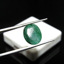 3.30Cts Natural Oval Cut Translucent Green Colombian Emerald Gemstone CH 7394