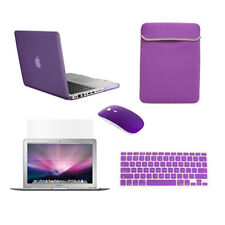 """5in1 Rubberized PURPLE Case for Macbook PRO 13"""" +Keyboard Cover +LCD +Bag +Mouse"""