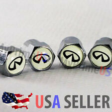 Infiniti Logo Valve Stems Caps Cover Car Chromed Roundel Emblem Wheel Tire USA