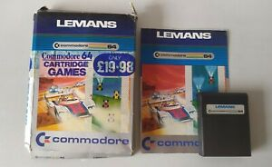 Commodore 64 Cartridge Game Lemans Le Mans Boxed With Manual Car Racing Rare