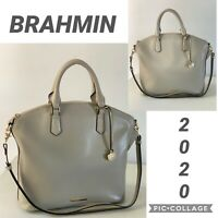 NWT BRAHMIN Genuine Leather Bag Large Satchel Sand Topsail Shoulder Bag