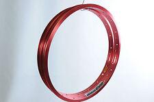 "PAIR RED 20"" BMX BIKE RIMS ALIENATION WIDE ALLOY 20"" 406 x 25.2mm 36 SPOKE USA"