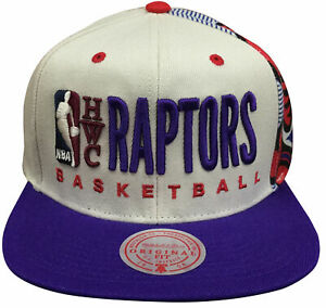 Mens Mitchell & Ness Sand NBA Toronto Raptors HWC Snapback Hat