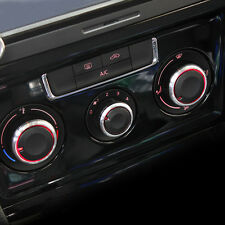 Volkswagen VW Polo Aluminium Heater Dash Knobs Buttons Chrome 6r 9n 9n3 Fox Oem+