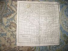 EARLY ANTIQUE 1750 AFRICA VAUGONDY COPPERPLATE MAP DATE IN TITLE HOTTENTOT RARE