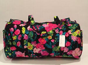 NEW Vera Bradley Large Traveler Duffel Bag Hilo Meadow Pattern Foldable