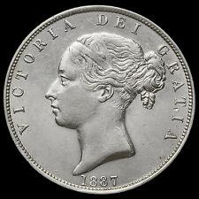 1887 Queen Victoria Young Head Silver Half Crown – EF