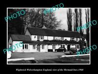 OLD LARGE HISTORIC PHOTO WIGHTWICK WOLVERHAMPTON ENGLAND THE MERMAID INN c1960