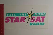 Decal/Sticker: feel the Music Star Sat Radio (04121677)