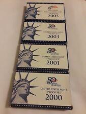 2000, 01, 03 & 05 US Mint Proof Sets-San Francisco