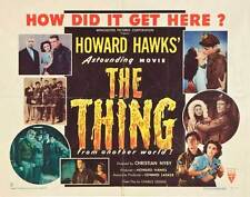 THE THING FROM ANOTHER WORLD Movie POSTER 22x28 Half Sheet B James Arness