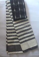 South Cotton pure handloom saree Rain Collection Design 4 Black & White lines