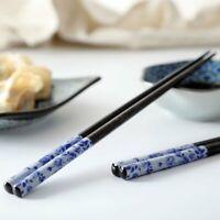Japanese Style 1 Pair Chopstick Wooden Reusable Home Serving Dinnerware Non Slip
