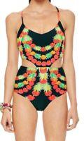 Garlands Mara Hoffman Women Swimwear String Cut Out Summer One Piece Size XS
