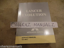 2004 Mitsubishi Lancer Evolution Service Manual Brakes Body Heat AC Volume 2