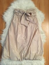 Nordstrom Max & Cleo Women's Dress Brown & White Strapless Bubble Hem Size 2