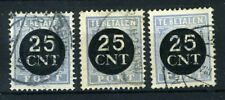NEDERLAND P63/64 gestempeld 1923