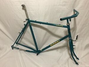 "1987 Vintage Nishiki Cascade Mountain Bike Frame W/ Matching Bars 23"" XL Suntour"