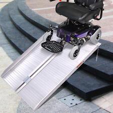 3' Folding Portable Suitcase Mobility Wheelchair Threshold Ramp Aluminum New