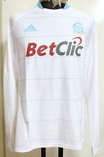 OLYMPIC MARSEILLE PLAYER ISSUE 2010/11 L/S FORMOTION HOME SHIRT BY ADIDAS XL NEW