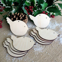 Wooden ROBIN Blank Birch Decoration Gift Tag Shapes for Christmas and Craft x10