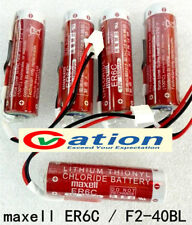 Battery Plug pin For ER6C AA 3.6V 1800mAh F2-40BL FX2N-48M PLC MAXELL Mitsubishi