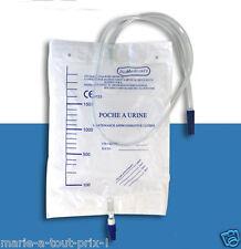 Collecteur sac Poche de récupération à urine 2 l avec valve et vidange uriner