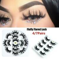 Wispy Fluffy Hair Criss-cross False Eyelash Eye Lash Extension 3D Mink Handmade
