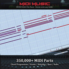 HUGE 350,000+ MIDI Music Pack - Chord Progs, Hooks, Melodies, Stabs, Bass, Leads