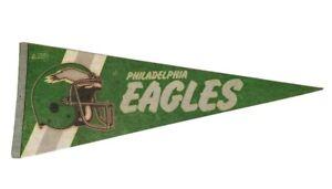 Vintage 1980's Philadelphia Eagles NFL Felt Pennant Helmet Double Line Flag