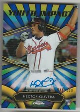 2016 TOPPS CHROME HECTOR OLIVERA RC ROOKIE YOUTH IMPACT AUTO AUTOGRAPH 48/150