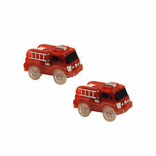 Bend A Path Toy Track Accessory, 2 Pack Light Up Fire Trucks Toy Cars Play Set