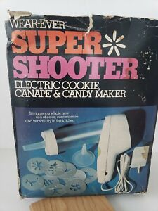 VINTAGE Wear-Ever Super Shooter Electric Cookie Canape Candy Maker #70001
