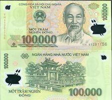 VIETNAM 100,000 100000 DONG 2011 P 122 POLYMER UNC