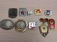 Original Badges comunism Lenin USSR Russia political badge Red October