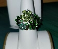 Chuck Clemency NYCII Sterling Silver chrome diopside peridot Bouquet Flower Ring